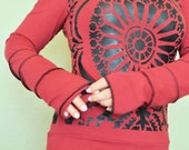 Hoodie top with stained glass motif  by Herban Devi