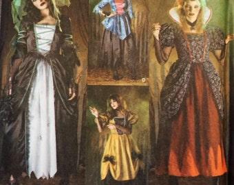 Simplicity 3613 - Ladies' Spooky Goth Halloween Costume Pattern 4-6-8-10