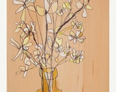 ON SALE Soft White Bunch Canvas Print by Jennifer Mercede 24X12