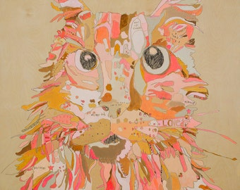 Court Cat Paper Print by Jennifer Mercede 14X11