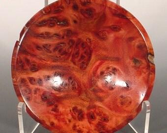 Velvet Tamarind Burl Ring Dish Turned Wooden Bowl Number 6249
