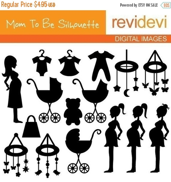 60 off sale mom to be silhouette digital images chic clip art for