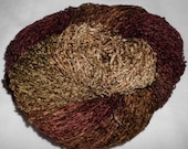 Hand Dyed Soft Rayon Chenille Yarn   BROWNIES  -  360 yds