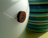 50 % off Simplicity necklace - customizable wooden circle necklace