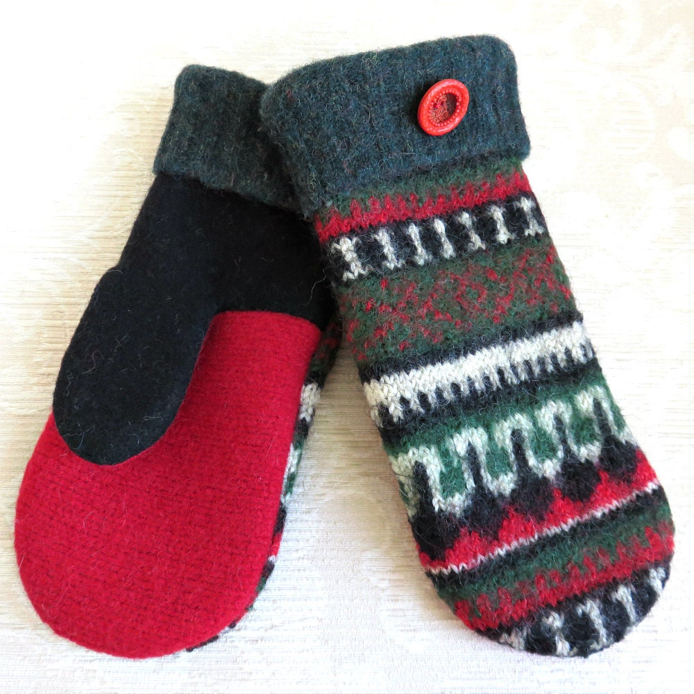 Wool Sweater Mittens For Sale 14