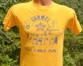 vintage t-shirt 80s CARMEL friend of police road race running tee Medium Small 1982 cop