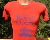 80s vintage tee ROYAL OPERA company london music los angeles 1984 t-shirt XS Small