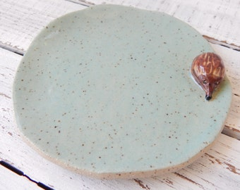 Whimsical Hedgehog Soap Dish- Hedgehog Spoon Rest -Soap Dish - Ceramic Spoon rest -pottery- Trinket Dish- Jewelry Holder- Hedgehog Dish