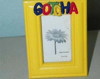 Gotcha Bright Yellow Small Photo Picture Frame Tabletop 12026