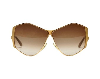 Neostyle TINAIR vintage sunglasses, butterfly shape, oversized sunglasses, extraordinary sunglasses in unworn deadstock condition
