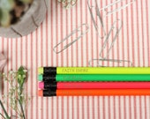 Set of 4 Website Pencils - Personalized Pencils, Custom Pencils, Engraved Pencils, Personalized Pencils for Kids, Cute girly pencils