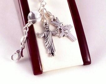 Risen Christ Rosary Bracelet in White Magnesite by Unbreakable Rosaries
