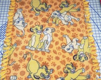 Disney Lion King Simba Nola Gold Fleece Baby Blanket Pet Lap Hand Tied