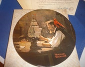 Edwin M Knowles 1980 Ship Builder Norman Rockwell Collector Plate