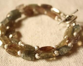 Sapphire Bracelet Sapphire Jewelry Double Strand Bracelet Plata Zaferio Joyeria Pink Gray Blue Bracelet Fine Jewelry Energetic Bracelet