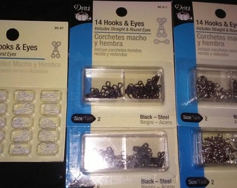 Hooks & Eyes - 5 packages