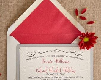 Wedding Invitation - Sonova - SAMPLE Staccato Signature Collection