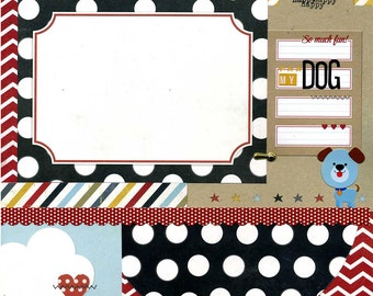 My Dog - Premade Scrapbook Page