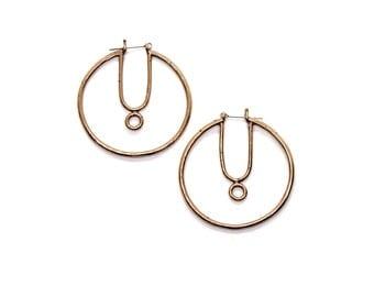 Linden Hoops // bronze & sterling silver