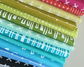 Blueberry Park fabric bundle of 14 by Karen Lewis Textiles for Robert Kaufman, Kona Cotton, Bundle of 14, Choose the Cuts