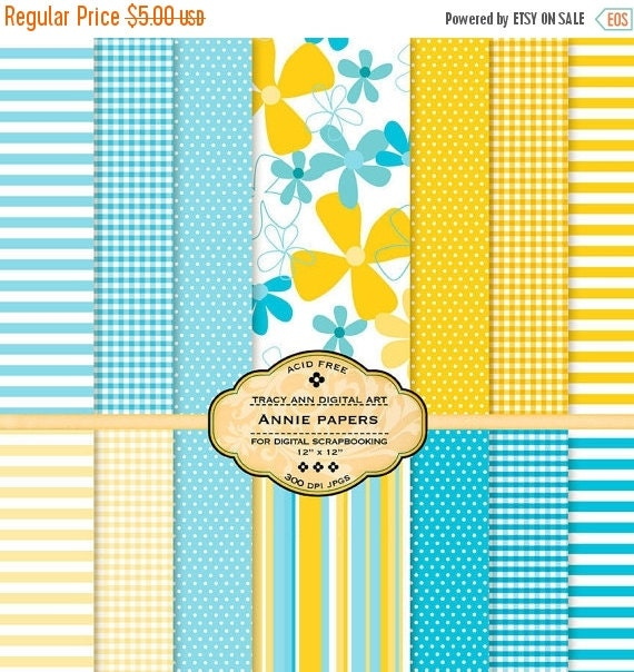 Annie Digital Paper pack for digital invites, card making, digital scrapbooking