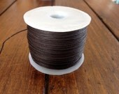 Waxed Cotton Cord .5mm 100 Meters - Brown