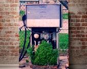 Rustic Photography, Vintage Gas Pump, Abandoned Photography, New Orleans Print, Rustic Wall Art, Anoles, Automotive Decor, Garage Art