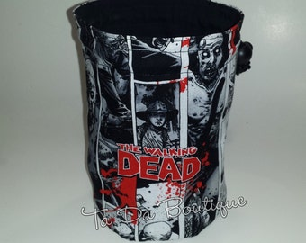 Zombies Round Bottom Drawstring / Dice Bag