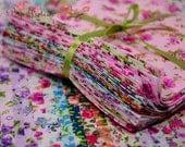 Fabric Cotton Pack Vintage Flower Floral Print 33 Mix Retro Design Fashion Color Precut Bundle Scraps Grab Bag Gift Set Material Collection