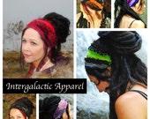 Hippie Headband, CUSTOM for YOU, Festival Clothing, Headband, Dreadband, Dread Wrap, Dreadlocks, Intergalactic Apparel