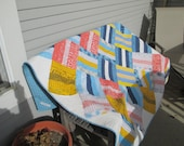 Large Lap Quilt called Chill Out designed by Brigitte Heitland of Zen Chic and featuring her figures fabric