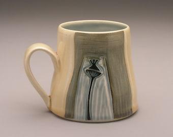 Poppy Flowerhead- Ceramic Mug- Ruchika Madan