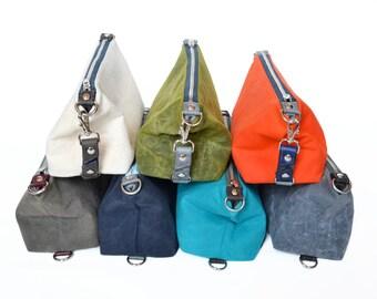 Waxed Canvas Dopp Kit, Mens Personalized Toiletry Bag, Groomsmen Gift, Custom Mens Gift, Shaving Bag - The Otto Custom Color Shave Kit