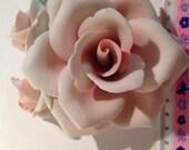 1  Mosaic Supply Vintage Shabby Broken China Pink Rose Flower