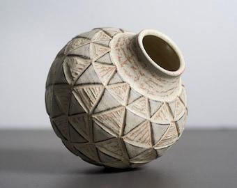 Modern Carved Bud Vase