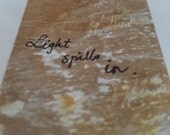 Light spills in, handmade card by T. F. Rice
