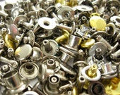 Leather Hardware Lot, Leathercraft Supply, Brass Rivets, Nickel Rivets,  Swivel Clips, Snaps, Eyelets, Ball Chain, Button Studs