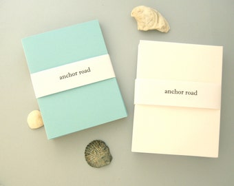Tropical Stationery Set, DIY Greeting Cards, Beach Cards, Mint Green Stationery, Light Blue Stationery, Sand Stationery, Beach Collection