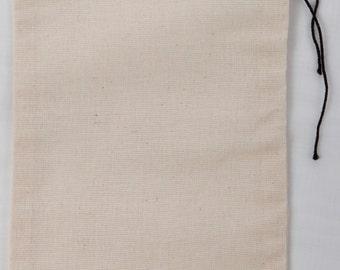 500 4x6 Cotton Muslin Black Hem and Black Drawstring Bags