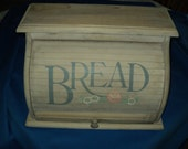 Vintage Rustic Wooden Bread Bin--Bread Box