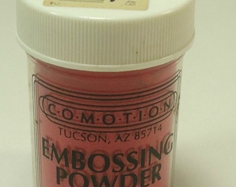 Comotion Embossing Powder Red 5421  .9 Ounce