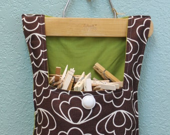 Clothes Pin Bag, Organic Bark Cloth, Jessica Jones