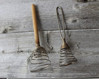 Vintage egg beater, hand mixer, Wire Wisk