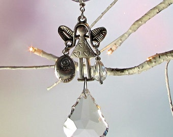 Fairy Crystal Sun Catcher & Christmas Ornament