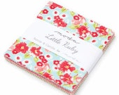 SALE 5 inch charm pack LITTLE Ruby Moda Fabric by Bonnie & Camille