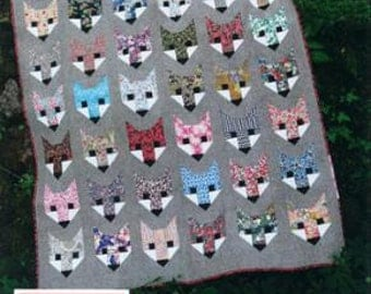 SALE Fancy Fox quilt Pattern by Elizabeth Hartman
