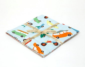 SALE 10 inch squares Stackers Layer Cake WHEELS 2 fabric by Riley Blake