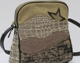 SHOULDER BAG Fabric and Leather Star Light Star Bright