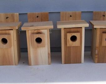 4 bluebird houses top opens upward western red cedar handmade top opening
