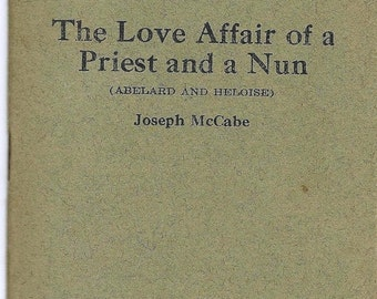 """ON SALE Vintage Little Blue Book """"The Love Affair of a Priest and a Nun by Joseph McCabe No 1515"""
